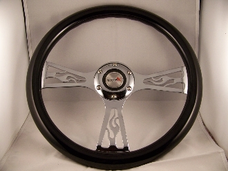 Flame Steering Wheel 14""