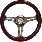 "13"" WOOD STEERING WHEEL WITH SLOTS"